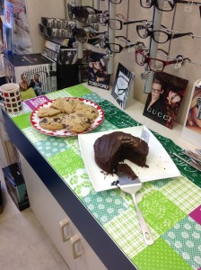 Delicious choc cake and cookies - yummy!